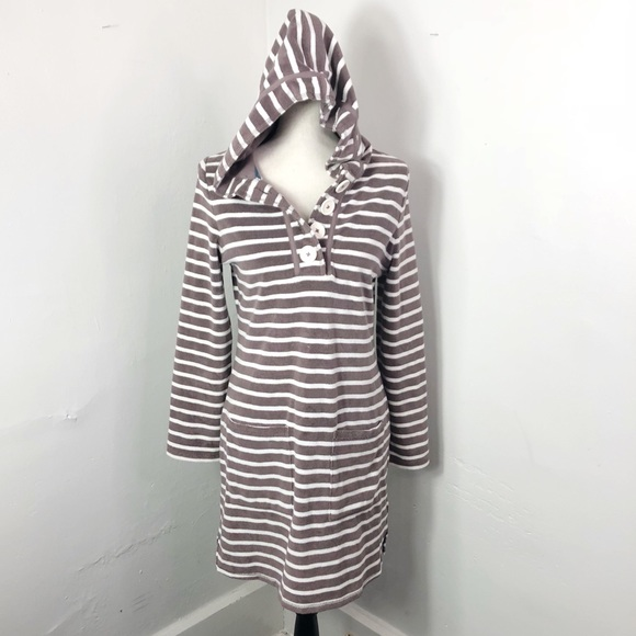 948ff0b62117f Boden Other - Boden Brown Striped Terry Cloth Swim Cover Up